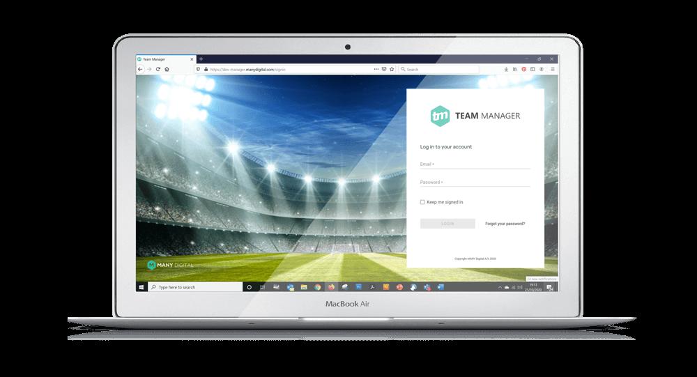 TEAM Manager webportal